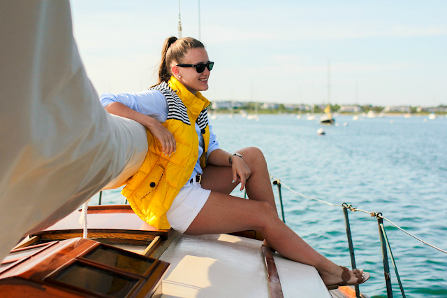 Boden Yellow Vest, Nantucket Sailing