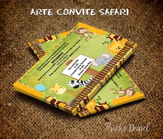 Arte Convite Safari Virtual