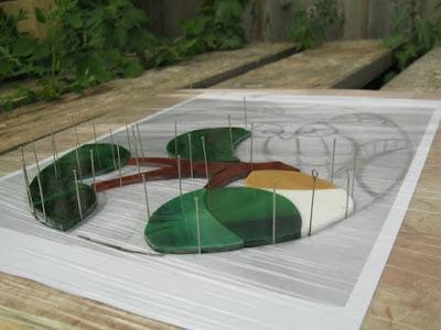 пришпиливание стекол булавками