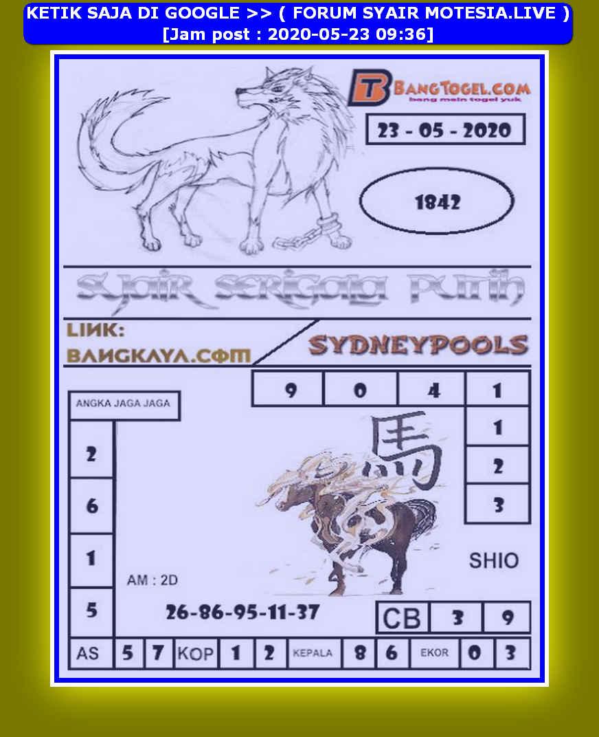 Kode syair Sydney Sabtu 23 Mei 2020 179