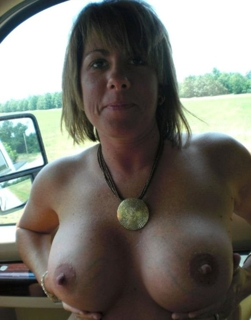 Tits fall out in car