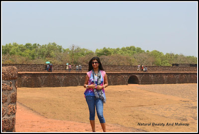 Blogger Anamika At the Peak point, Aguada fort