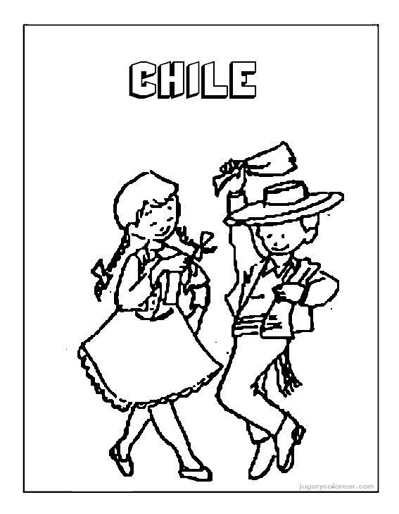 Fiestas Patrias Chile Dibujos Para Colorear Imagui