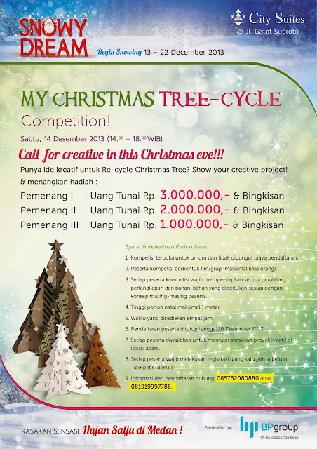 Hujan Salju di Medan - My Christmas Tree-Cycle Competition https://www.ceritamedan.com/