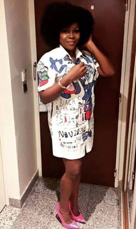 Annie Idibia & Omawumi's lovely outfit to 2face & MI's concert last night
