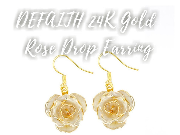Defaith 24K Gold Rose Classic Ivory Drop Earring Review