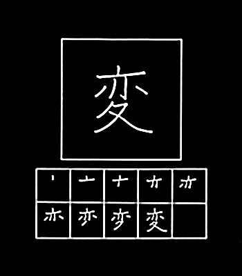 kanji aneh, berubah