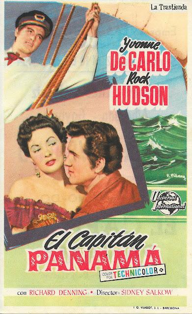 El Capitán Panamá - Programa de Cine - Rock Hudson - Yvonne de Carlo