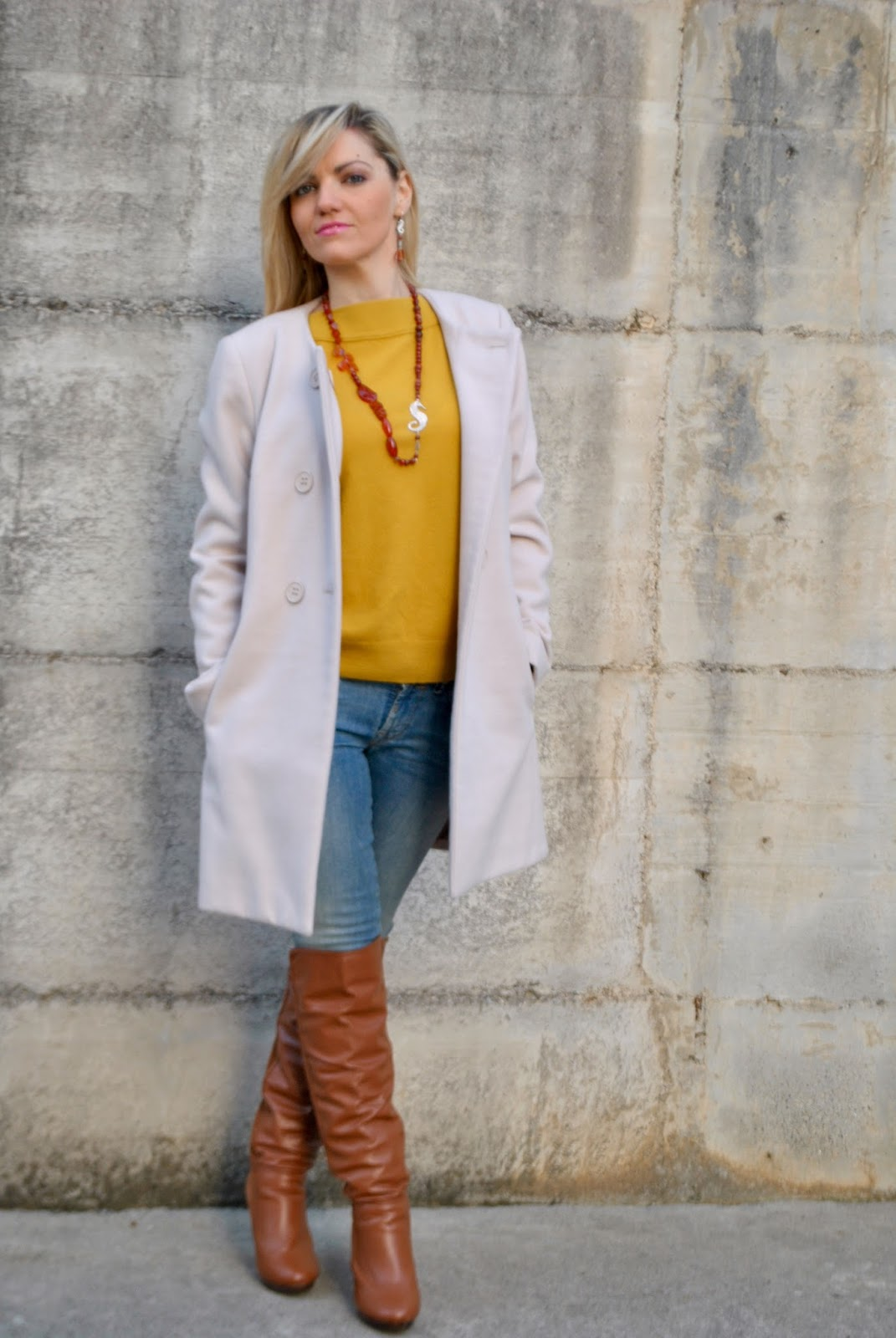 Ben noto Color-Block By FelyM.: OUTFIT: MUSTARD SWEATER AND SKINNY JEANS  QF69