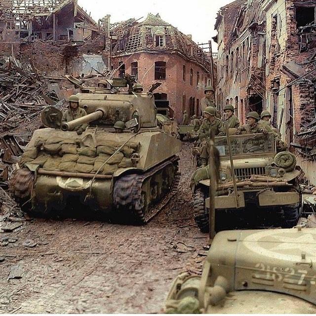 M4A3 Sherman of the 771st Tank Battalion color photos of World War II worldwartwo.filminspector.com