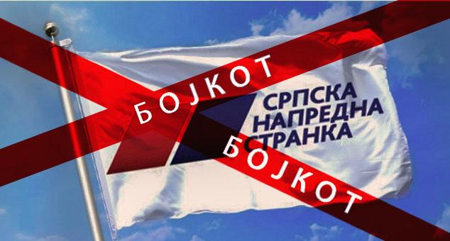 Бојкот свих повезаних са СНС-ом све док истрајавају у издаји КиМ и остатка Србије