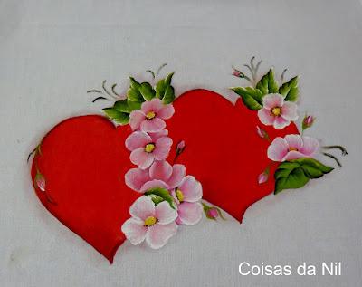 coracao e flores