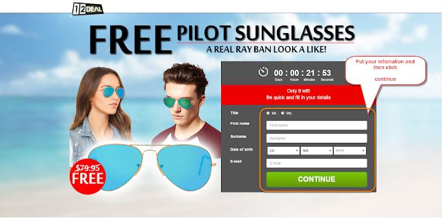 Free Pilot SunGlasses