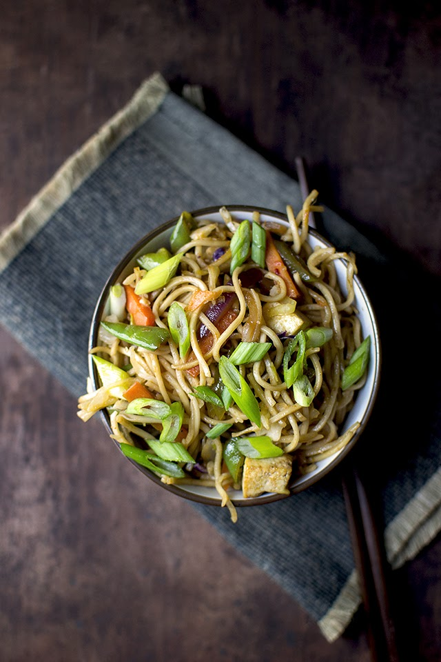 Indo-Chinese Noodles with Vegetables