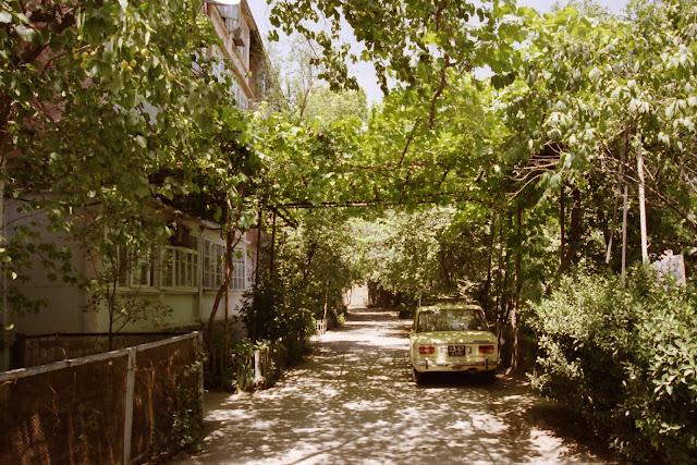 Ouzbékistan, Tachkent, cité-jardin, © L. Gigout, 2001