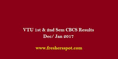 VTU 1st & 2nd Sem CBCS Results Dec/Jan 2017