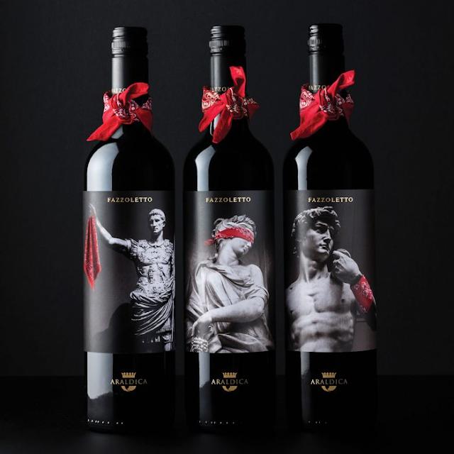 La marca de vino italiana Fazzoletto y su inusual pero elegante diseño de packaging