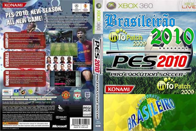 Capa PES Brasileirão 2010 Xbox 360