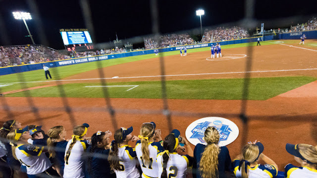 Michigan versus LSU, 2016 WCWS - ASA Hall of Fame Stadium, Oklahoma City