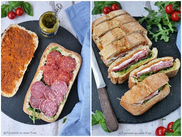 Italienisches Sandwich | Rezept | Essen | Fingerfood | kalte Küche
