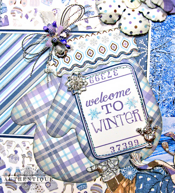 Authentique Frosted Memories Winter Layout by Kathy Clement Photo 05