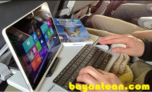 Danh sách các thiết bị điện tử bị cấm khi đi máy bay