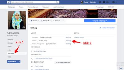 cara merubah nama fanspage di facebook