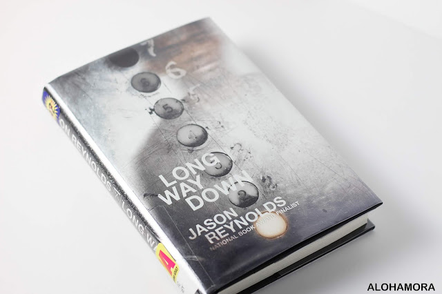 Long Way Down by Jason Reynolds gets 5 stars in this book review.  Newbery Medal Winner, Printz Honor book, this Free Verse Contemporary Lit is a fast read, perfect for the reluctant reader, and a book with depth and meaning.  A great read aloud for the classroom. Young Adult, high school, teachers, librarians, great book, Alohamoraopenabook, Alohamora Open a Book, Alohamoraopenabook http://alohamoraopenabook.blogspot.com/ books for boys