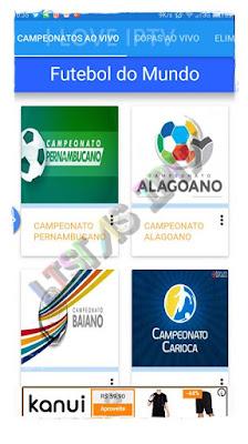 Futebol do Mundo - Apk - Assistir Futebol Ao vivo no Celular