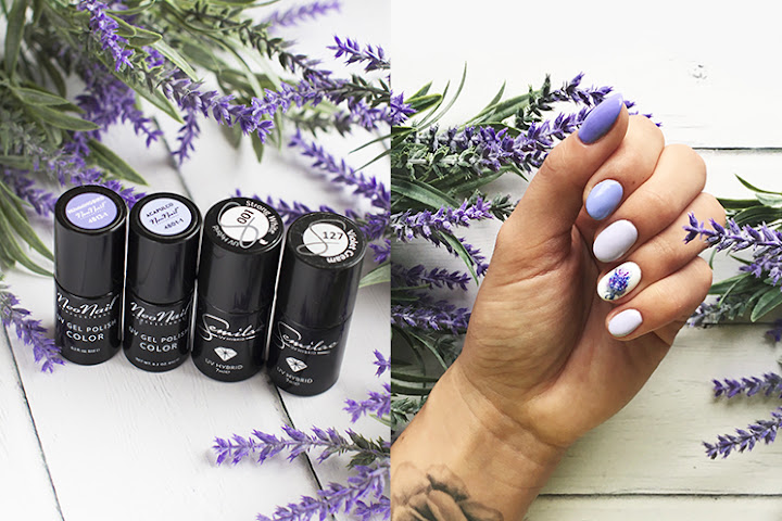 LAVENDER MANI 💜 SEMILAC 127 VIOLET CREAM, 001 STRONG WHITE⬧NEONAIL ACAPULCO, HUMMINGBIRD