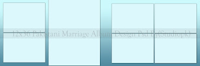 12x36 Pakistani Marriage Album Design Psd