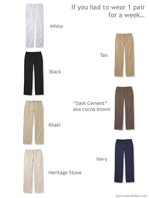 Which color will you choose for your pants?