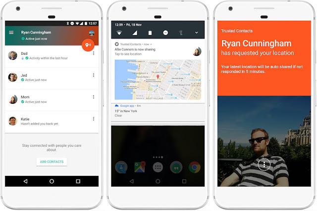 Google Giới Thiệu Trusted Contacts, Giúp Xác Minh Tình Trạng An Toàn Người Dùng