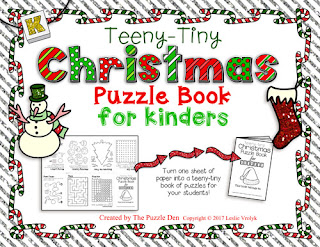 The Puzzle Den - Teeny-Tiny Christmas Puzzle Book for Kinders