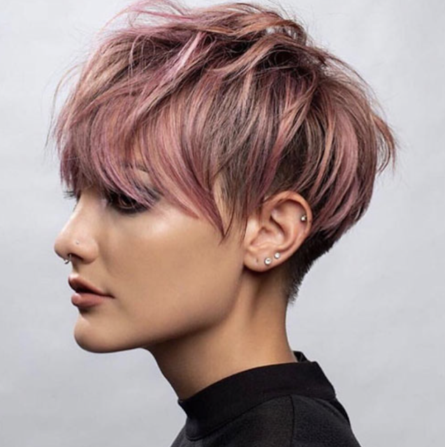 short spiky pixie haircuts with bangs 2019