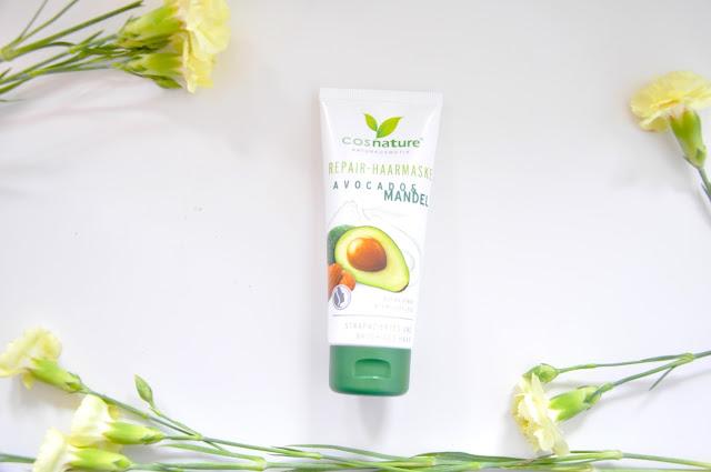 maska do włosów z awokado i olejem ze słodkich migdałów cosnature avocado & mandel repair haarmaske
