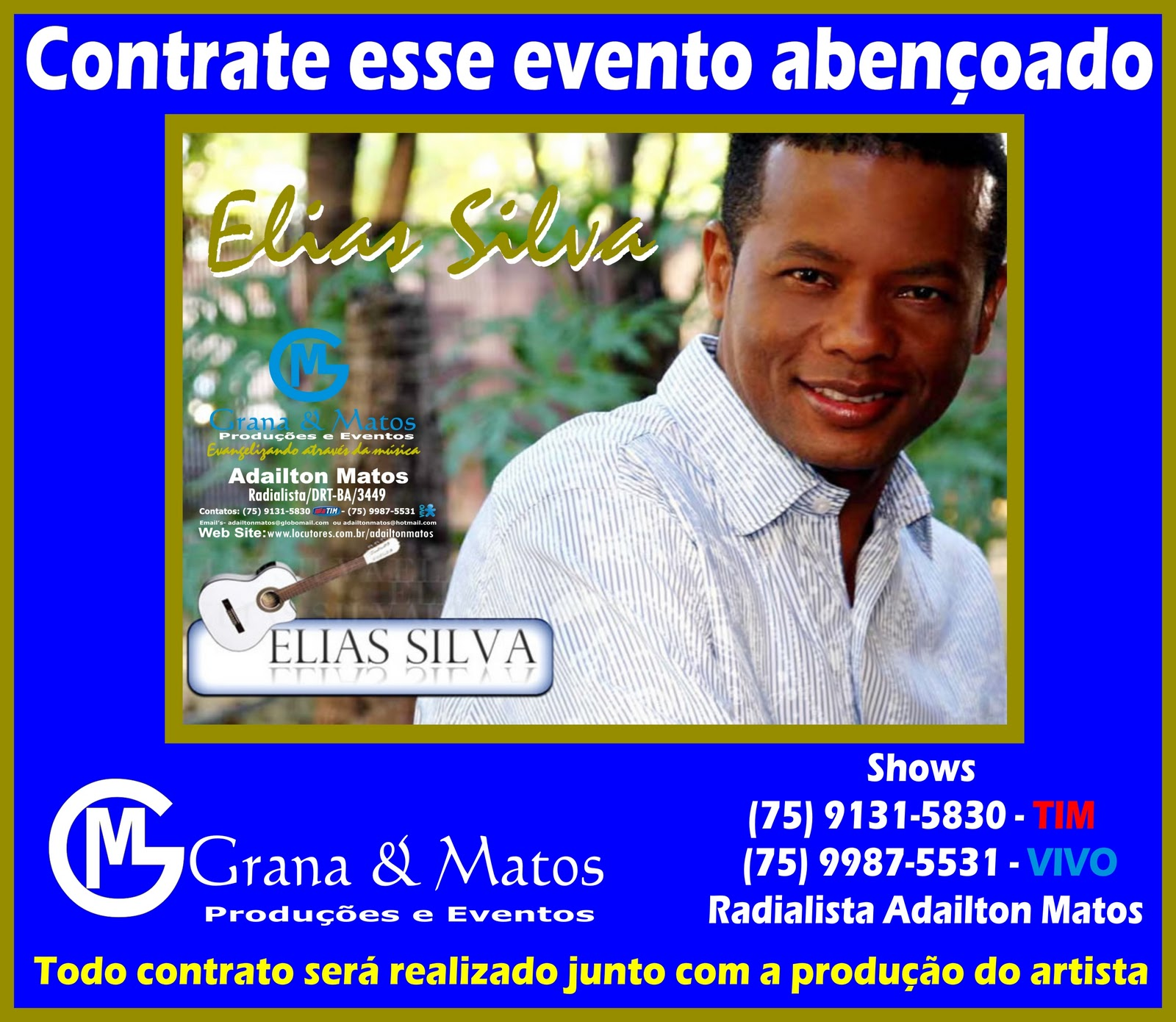 site agenda contato cantores gospel pentecostal musica nova de elias silva showsagenda