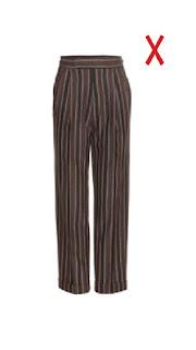 Широкие брюки в продольную полоску для стройных женщин