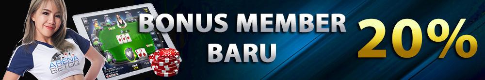 Bonus New Member 20% Poker Online Indonesia
