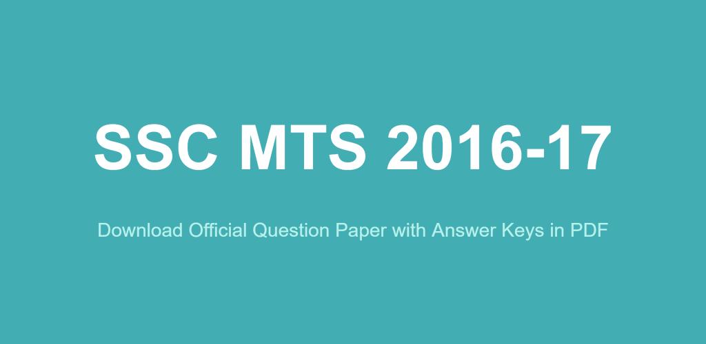 Ssc Mts Answer Key 2014 Pdf
