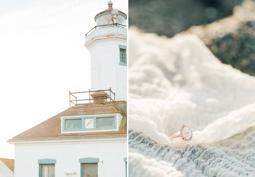 Surprise Proposal-Beach Engagement-Fort Worden Photography by Something Minted