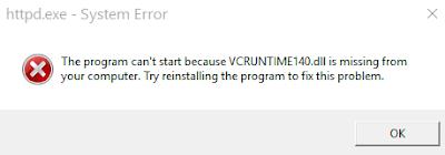 Cara Mengatasi Error VCRUNTIME140.DLL di PC