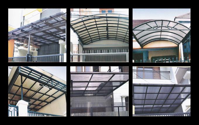 Canopy Minimalis Pembuatan Teralis Jendela Pagar Rumah