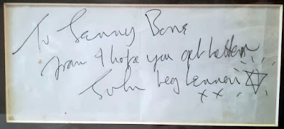 A Note with Get Well Wishes to a Fan from John Lennon