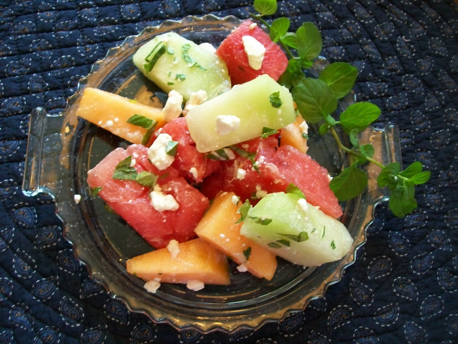 michigan cottage cook three melon salad with feta cheese. Black Bedroom Furniture Sets. Home Design Ideas