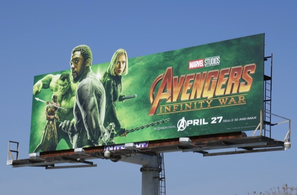 Hulk Panther Widow Avengers Infinity War billboard