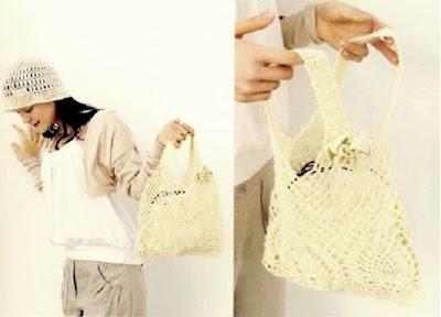 2 Bolsos de mano a crochet gráficos