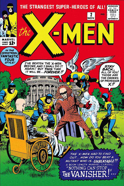 X-Men v1 #2, 19634 Marvel silver age comic book cover by Jack Kirby - 1st Vanisher