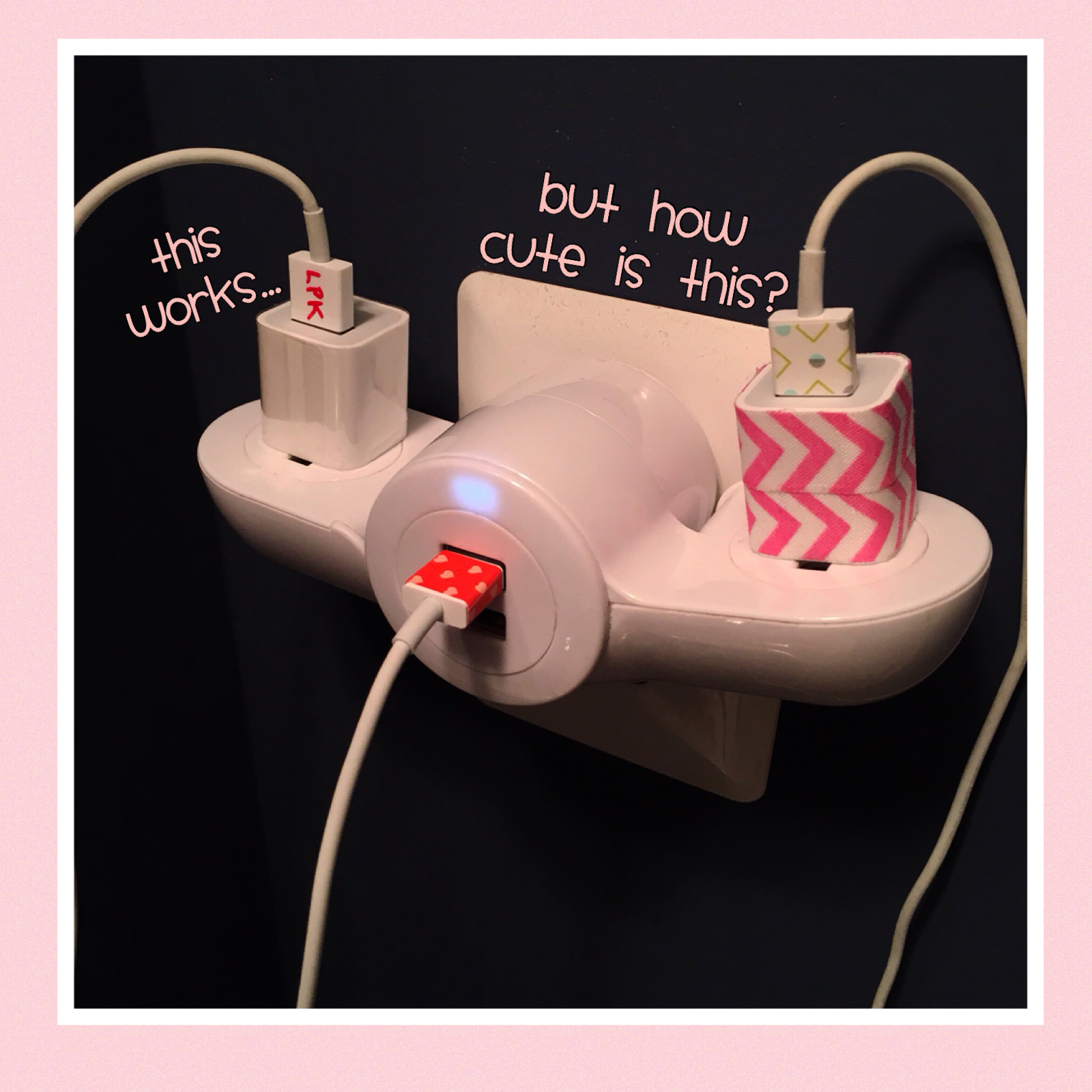 The Craft Tutor Mark Your Phone Charger With Washi Tape